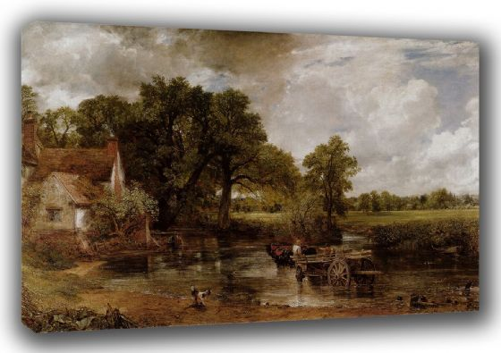 Constable, John: The Haywain. Fine Art English Landscape Canvas. Sizes: A3/A2/A1 (0020)